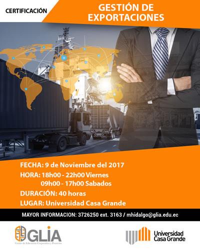 Certificación en Gestión de Exportaciones