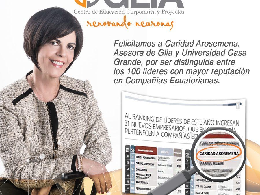 Caridad Arosemena, entre los 100 líderes de Vistazo
