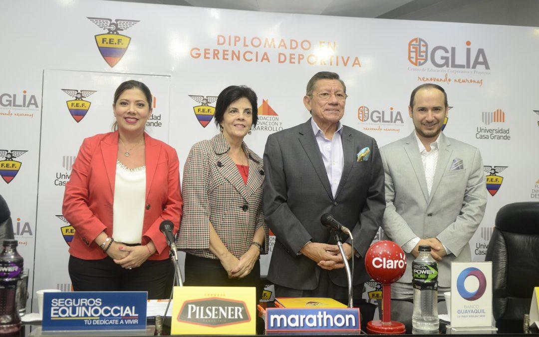Glia y la Federación Ecuatoriana de Fútbol presentan el Diplomado en Gerencia Deportiva